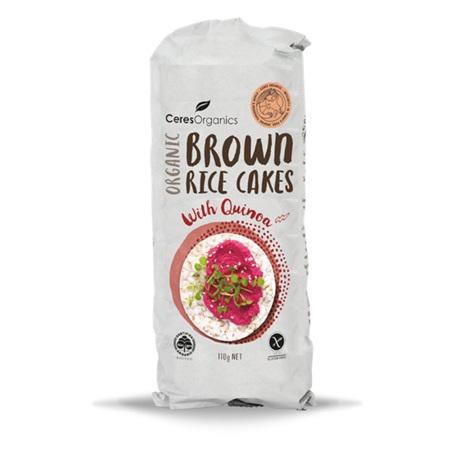 Ceres Organics Organic Brown Rice Cakes with Quinoa 110g
