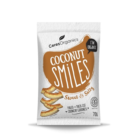 Ceres Organics Organic Coconut Smiles Sweet & Salty 70g
