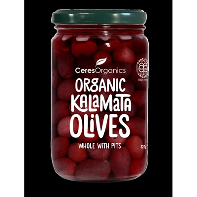 Ceres Organics Organic Olives Kalamata Whole 320g