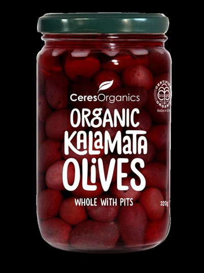 Ceres Organics Organic Olives Kalamata Whole 320g