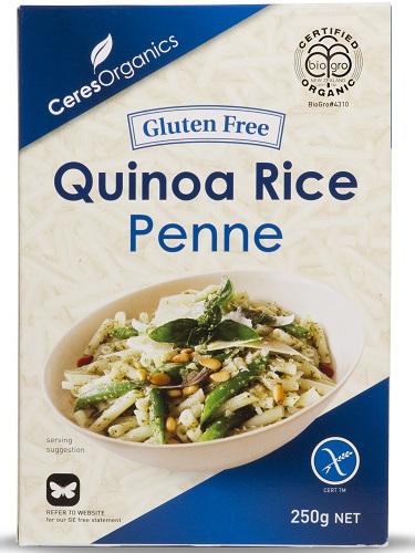 Ceres Organics Organic Penne Quinoa Rice Gluten Free 250g