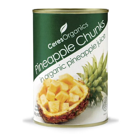 Ceres Organics Organic Pineapple Chunks in Pinapple Juice 400g