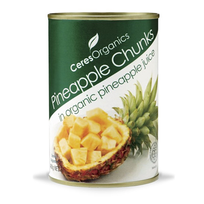 Ceres Organics Organic Pineapple Chunks in Pinapple Juice 400g