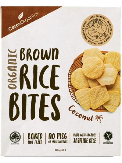 Ceres Organics Organic Rice Bites Coconut 100g
