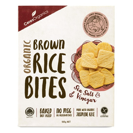 Ceres Organics Organic Rice Bites Sea Salt & Vinegar 100g
