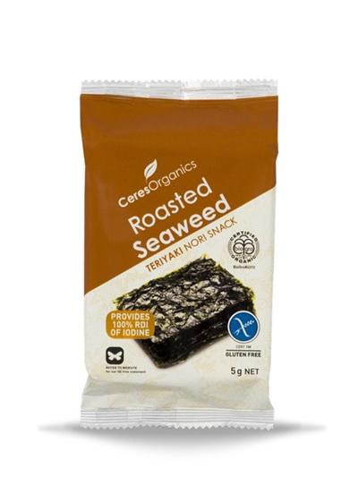 Ceres Organics Organic Roasted Seaweed Teriyaki Nori Snack 5g