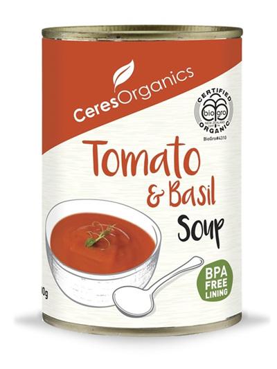 Ceres Organics Organic Tomato & Basil Soup 400g