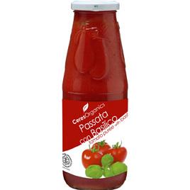 Ceres Organics Organic Tomato Passata With Basil 680g