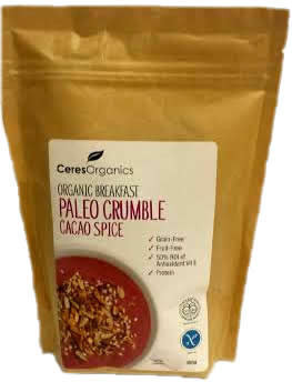 Ceres Organics Paleo Crumble Cacao Spice 350gm