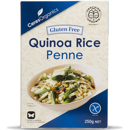 Ceres Organics Penne or Macaroni Quinoa Rice Gluten Free - 2 Sizes