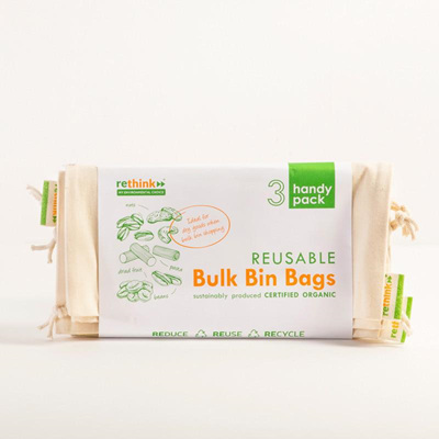 Organic Cotton Bulk Bin Bags - Multi Pack
