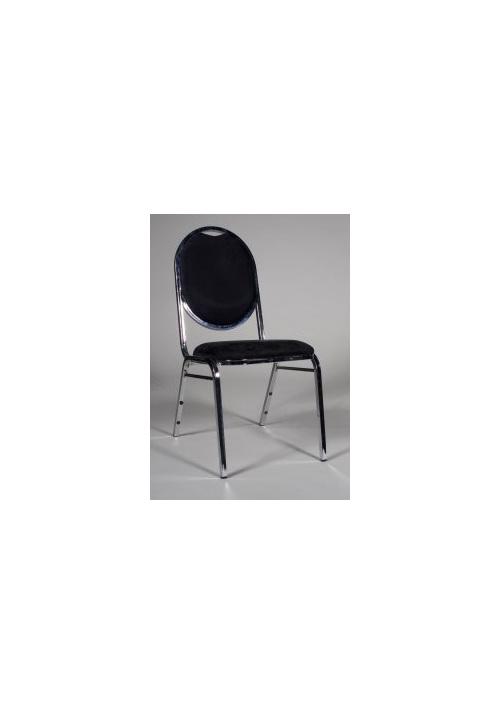 Chair Banquet Black & Chrome