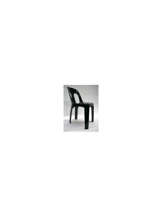 Chair Barrel Black Resin