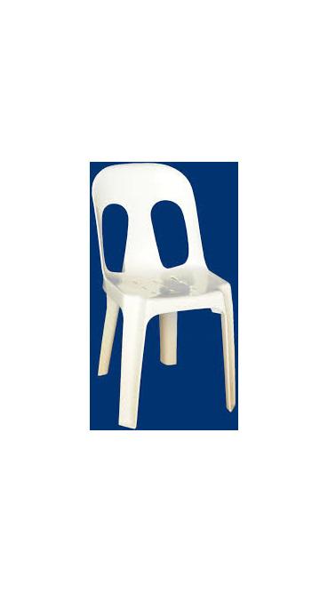 Chair Barrel White Resin