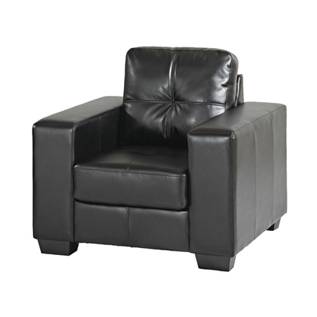 Chair Lounge Leather BK