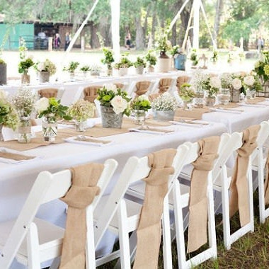 Chair Sashes - Hessian