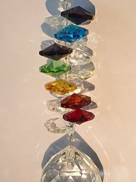 Chakra Cluster Hanging Crystal