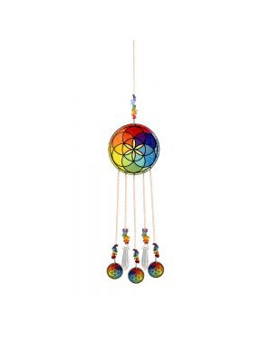 Chakra hanging wooden oval