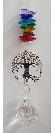 Chakra Tree of Life Crystal Hanging