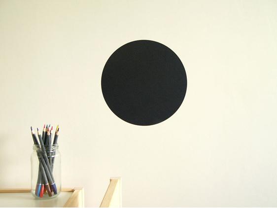 Chalkboard dot wall decal