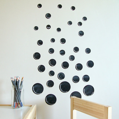 Chalkboard dots wall decal