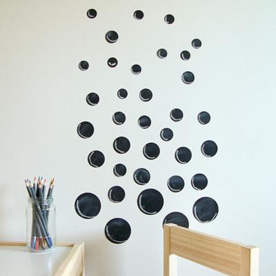 Chalkboard dots wall decal