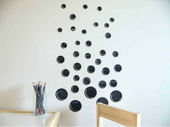 Chalkboard dots bubbles