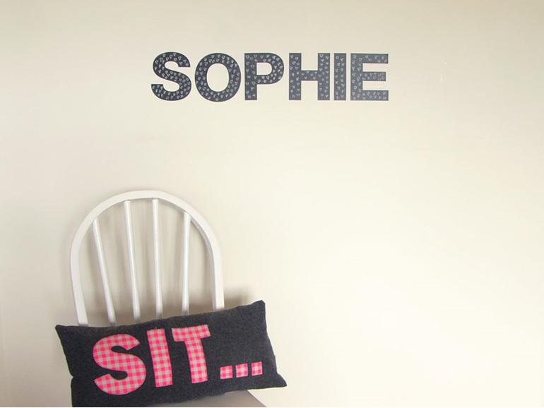 Chalkboard letters sophie