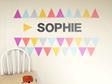 Chalkboard letters sophie triangle grid