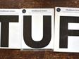 Chalkboard letters STUFF