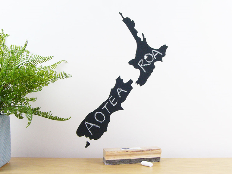 Chalkboard New Zealand wall decal