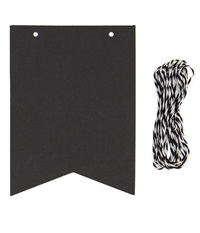 Chalkboard Paper Bunting