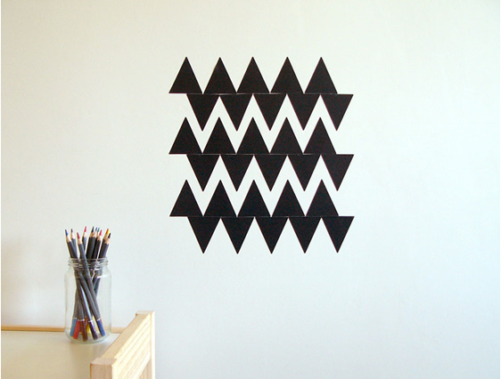 Chalkboard triangles chevron