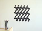 Chalkboard triangles chevron striped
