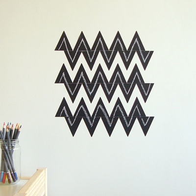 Chalkboard triangles wall decal