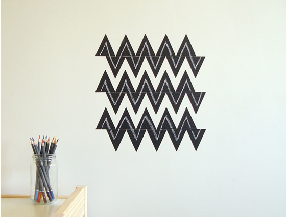 Chalkboard triangles chevron striped