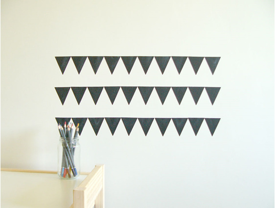 Chalkboard triangles grid
