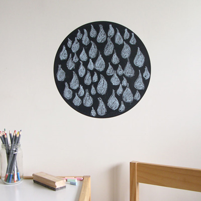 Chalkboard dot wall decal