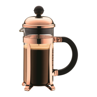 Chamboard Coffee Maker 3 Cup 350ml Copper