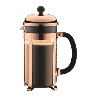 Chamboard Coffee Maker 8 Cup 1 Litre Copper