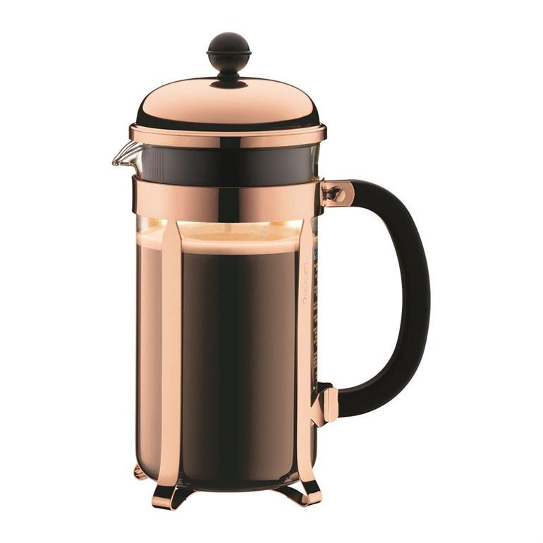 Chamboard Coffee Maker 8 Cup 1 Litre Copper
