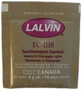 Champagne Yeast Lalvin EC-1118 5g Sachets