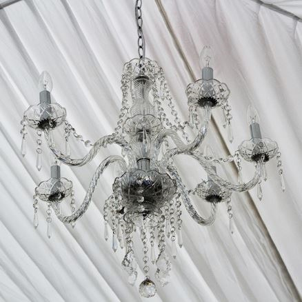 Chandelier 5 Bulb Crystal look