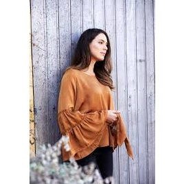 Chandon Blouse - Cognac