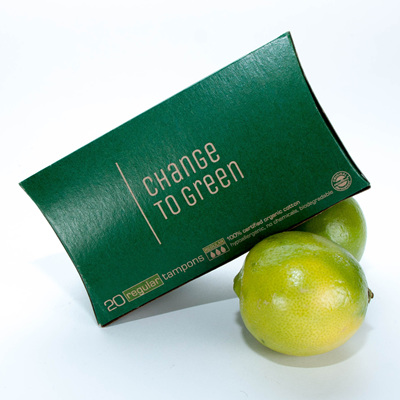 Change to Green organic cotton tampons 20s