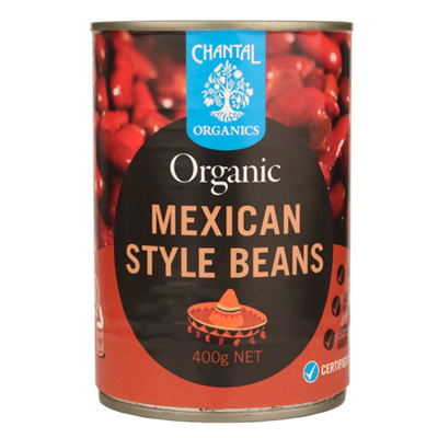 Chantal Organics Mexican Style Beans 400g