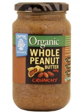 Chantal Organics Organic Peanut Butter Whole Crunchy 700g