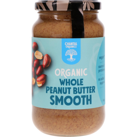 Chantal Organics Organic Peanut Butter Whole Smooth /Crunchy