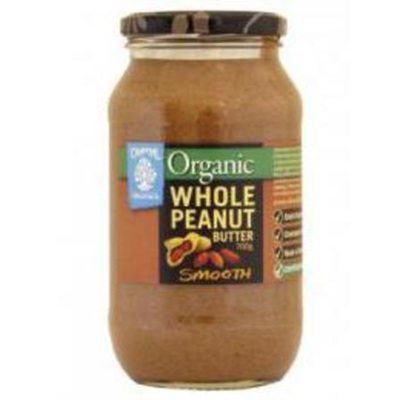 Chantal Organics Organic Peanut Butter Whole Smooth /Crunchy 700g
