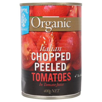 Chantal Organics Organic Tomatoes Italian Chopped Peeled 400g